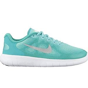 """Nike """"FREE RN"""" Turquoise Sneakers - Girl's Size 12"""